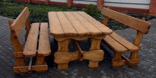 Простые варианты как сделать стол со скамейкой своими руками | 250x500